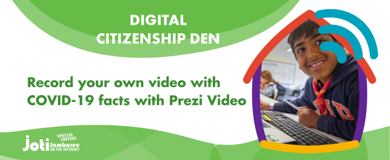 Record your own video with COVID-19 facts with Prezi Video